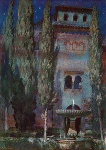Jorge Apperley (George Owen Wynne Apperley) - Lindaraja Yard (Night at the Alhambra)