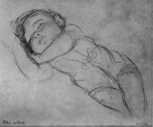 Jorge Apperley (George Owen Wynne Apperley) - My son, Enriquito sleeping