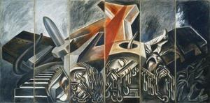 Jose Clemente Orozco - Dive Bomber and Tank