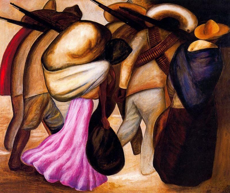 Soldiers oil on canvas by jose clemente orozco 1883 1949 for Arte mural mexicano