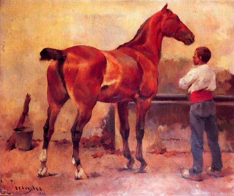 In The Block by Josep Cusachs I (1851-1908, France) | Art Reproductions Josep Cusachs I | WahooArt.com