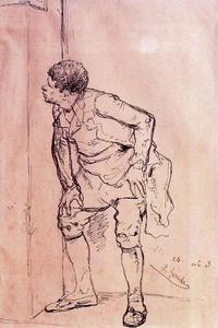José Jiménez Aranda - Preparatory drawing for a painting