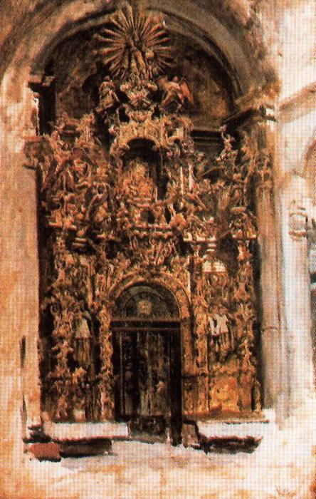 Altarpiece Of The Church Of The Savior In Seville by José Villegas Cordero (1844-1921, Spain)