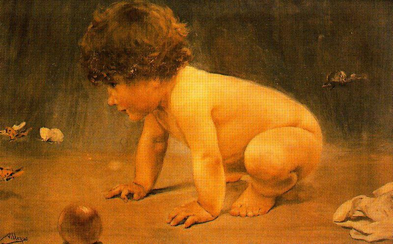 Figure Of A Child by José Villegas Cordero (1844-1921, Spain)