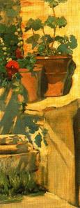 Flowers And Potted by José Villegas Cordero  (order Fine Art painting copy José Villegas Cordero)