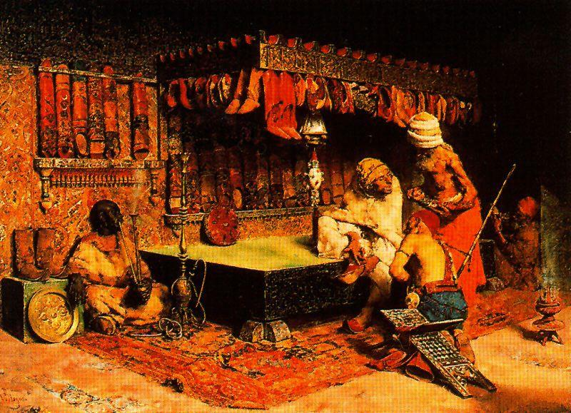 Order Painting Copy : Moroccan Slippers Store by José Villegas Cordero (1844-1921, Spain) | WahooArt.com