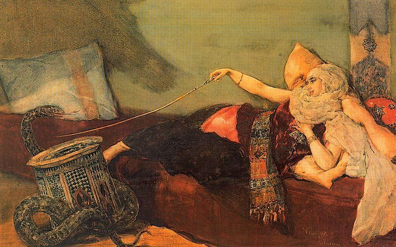 Odalisque 1 by José Villegas Cordero (1844-1921, Spain)