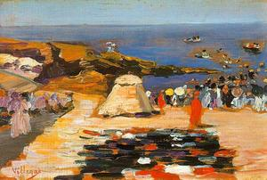 José Villegas Cordero - On The Beach At Biarritz