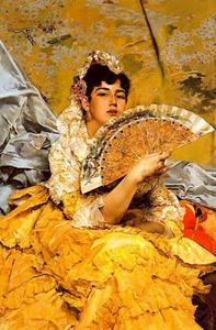 José Villegas Cordero - Portrait Of A Sevillian Woman