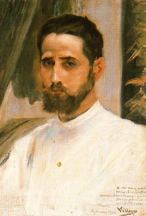 Portrait Of Eustaquio Marín by José Villegas Cordero (1844-1921, Spain)