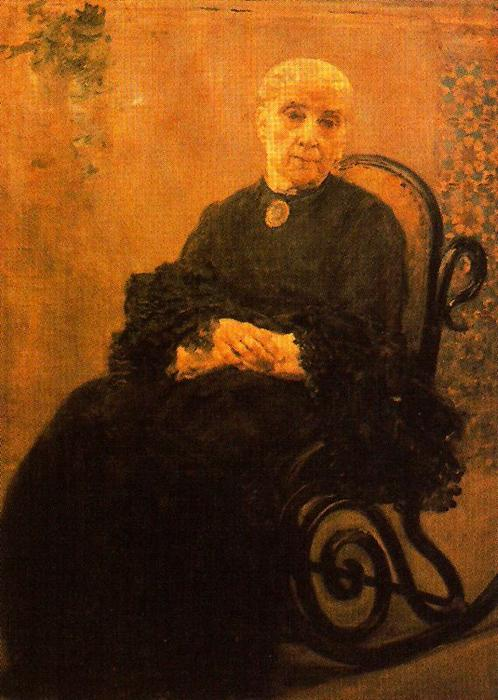 Portrait Of His Mother by José Villegas Cordero (1844-1921, Spain)