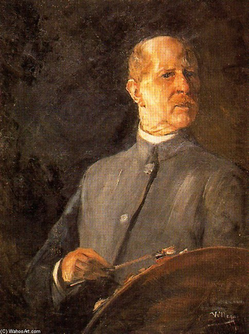 Self-Portrait 2 by José Villegas Cordero (1844-1921, Spain) | WahooArt.com
