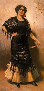 José Villegas Cordero - Sevillian With A Shawl