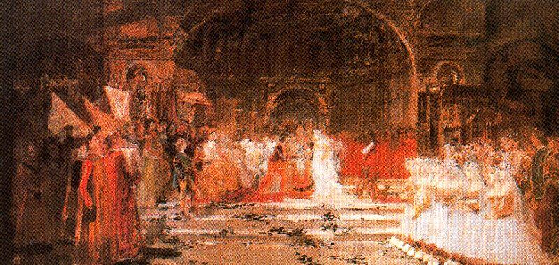 Sketch For The Feast Of The Maries by José Villegas Cordero (1844-1921, Spain) | WahooArt.com