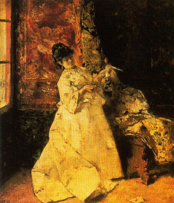 The Letter by José Villegas Cordero (1844-1921, Spain) | WahooArt.com