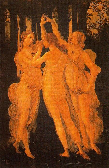 The Three Graces. Copies Of Fragments Of The Allegory Of Spring. by José Villegas Cordero (1844-1921, Spain)