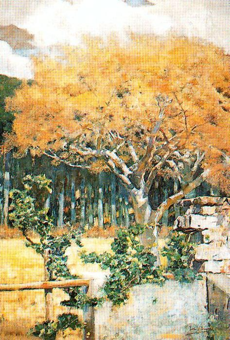 Trees Along The River by José Villegas Cordero (1844-1921, Spain)