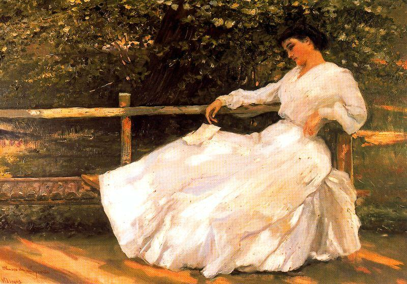 Order Museum Quality Reproductions : Women In The Garden by José Villegas Cordero (1844-1921, Spain) | WahooArt.com