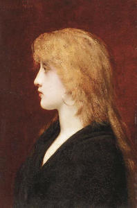 Jules Joseph Lefebvre - A Young Girl in Profile