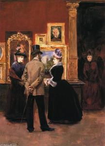 Julius Leblanc Stewart - Ladies with a Gentleman in a Top Hat