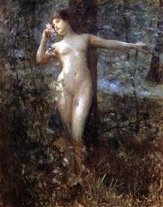Julius Leblanc Stewart - Nude in the Forest