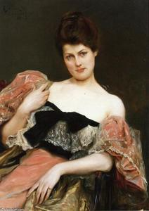 Julius Leblanc Stewart - Portrait of a Lady