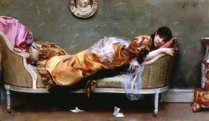 Julius Leblanc Stewart - Reclining Woman