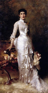 Julius Leblanc Stewart - Young Beauty In A White Dress