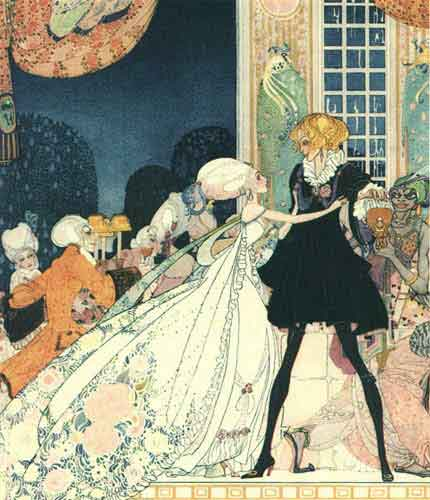 Don't Drink! I would rather marry a gardener! by Kay Rasmus Nielsen (1886-1957, Denmark)