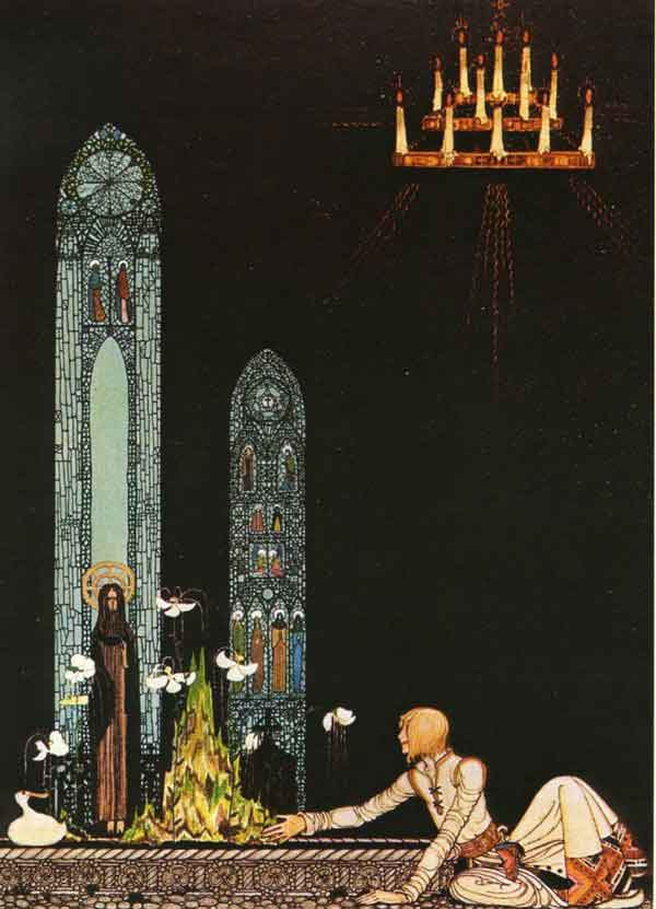 In that Well Swims a Duck by Kay Rasmus Nielsen (1886-1957, Denmark)