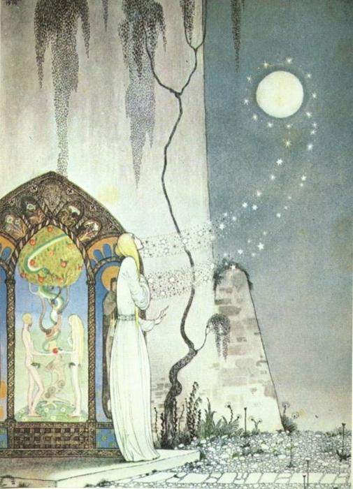 Pop! Out Flew the Moon by Kay Rasmus Nielsen (1886-1957, Denmark) | Art Reproduction | WahooArt.com