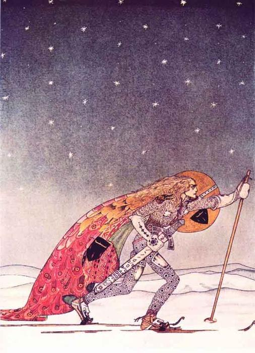 The Man Gave Him a Pair of Snowshoes by Kay Rasmus Nielsen (1886-1957, Denmark) | Art Reproduction | WahooArt.com