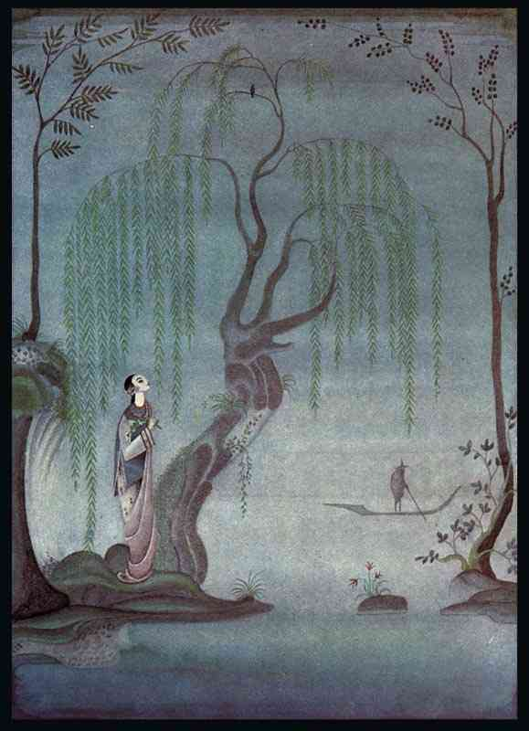 The Nightingale. At night, I listen to the Nightingale by Kay Rasmus Nielsen (1886-1957, Denmark)