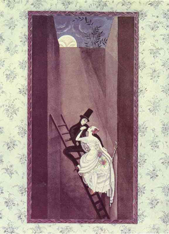 The Shadow. At the top there's a hole leads out into the wide world by Kay Rasmus Nielsen (1886-1957, Denmark)