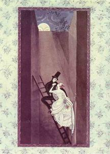 Kay Rasmus Nielsen - The Shadow. At the top there-s a hole leads out into the wide world