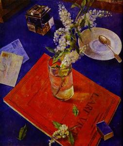 Kuzma Petrov-Vodkin - Branch of a Bird Cherry Tree
