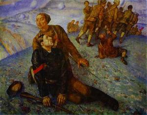 Kuzma Petrov-Vodkin - Death of Commissar