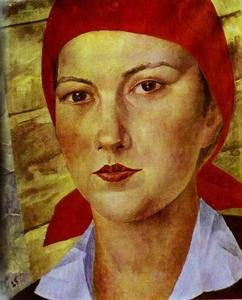 Kuzma Petrov-Vodkin - Girl with a Red Bandana