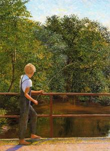 Lilla Cabot Perry - Boy Fishing