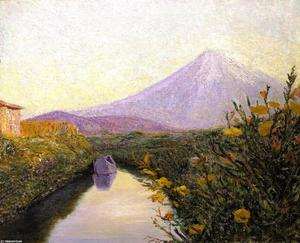 Lilla Cabot Perry - Fuji from the Canal, Iwabuchi