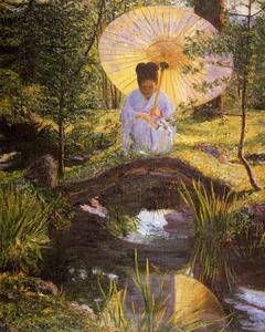 Lilla Cabot Perry - In a Japanese Garden