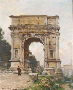 Louis Aston Knight - Arch of Titus (The Forum), Rome