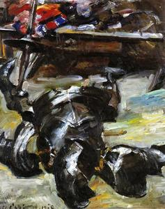 Armour in the Studio by Lovis Corinth  (order Fine Art painting copy Lovis Corinth (Franz Heinrich Louis))