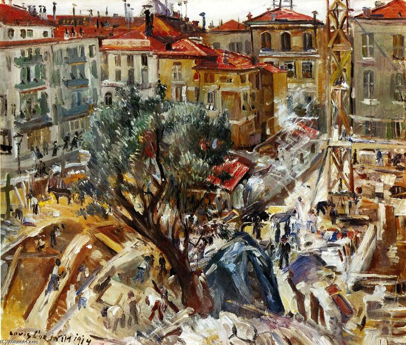 Building Under Construction in Monte Carlo by Lovis Corinth (Franz Heinrich Louis) (1858-1925, Netherlands)