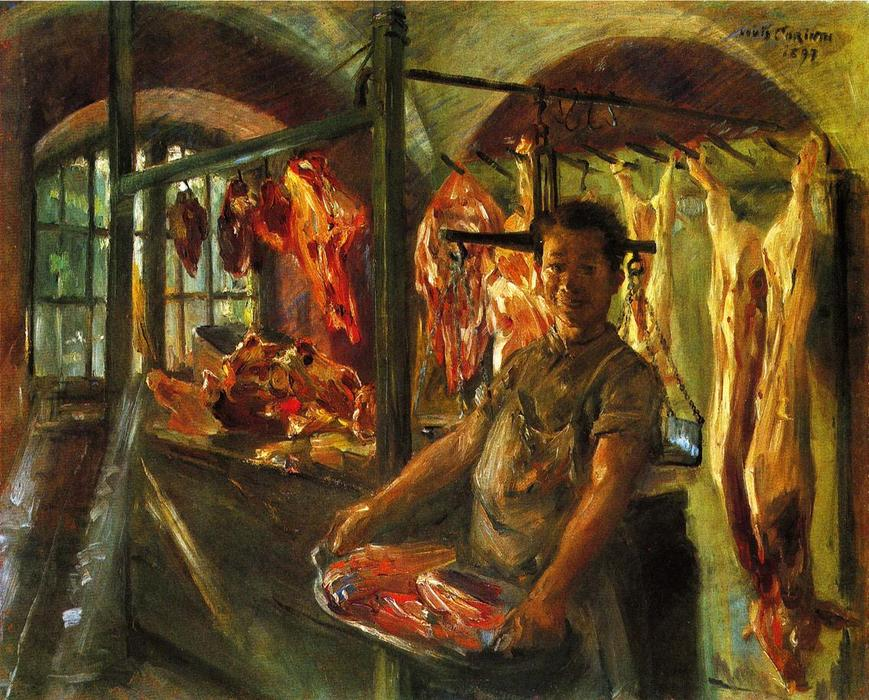 Butcher's Shop at Schaftlarn an der Isar by Lovis Corinth (Franz Heinrich Louis) (1858-1925, Netherlands)