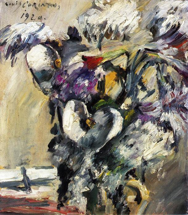 Chrysanthemms and Calla, Oil On Canvas by Lovis Corinth (Franz Heinrich Louis) (1858-1925, Netherlands)