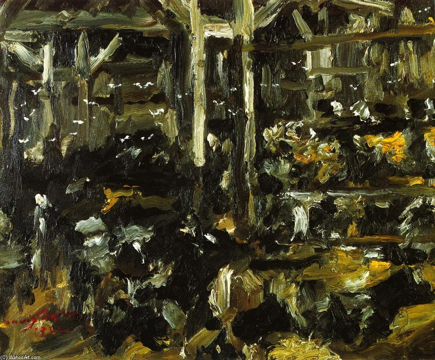 Cowshed, Oil On Canvas by Lovis Corinth (Franz Heinrich Louis) (1858-1925, Netherlands)