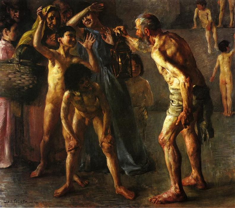 Diogenes, Oil On Canvas by Lovis Corinth (Franz Heinrich Louis) (1858-1925, Netherlands)