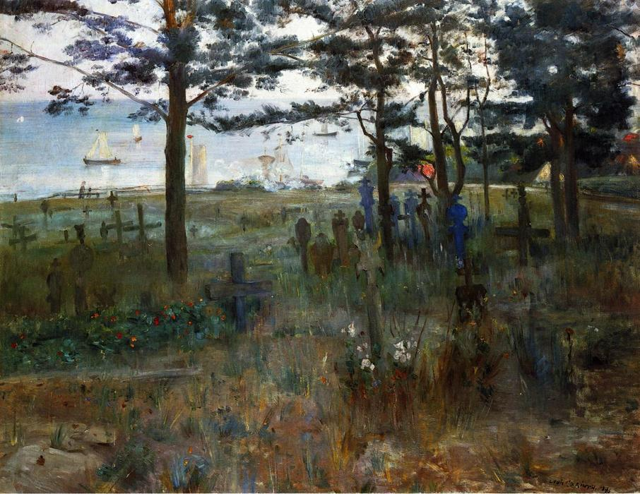 Fishermen's Cemetery at Nidden, Oil On Canvas by Lovis Corinth (Franz Heinrich Louis) (1858-1925, Netherlands)