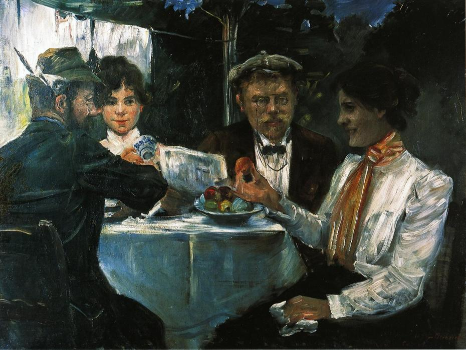 In Max Halbe's Garden, Oil On Canvas by Lovis Corinth (Franz Heinrich Louis) (1858-1925, Netherlands)